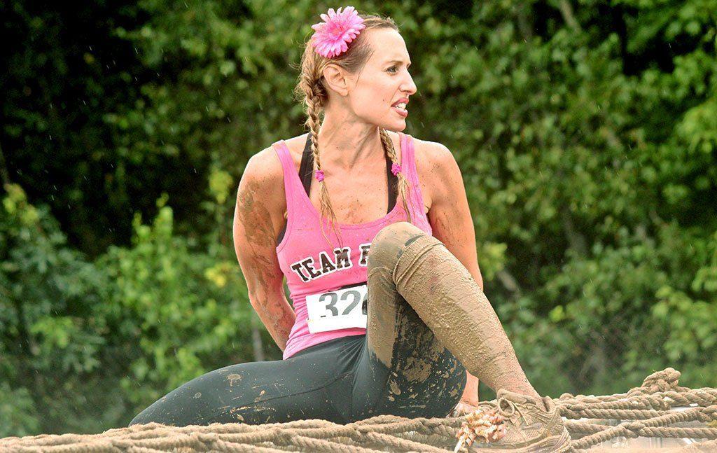 muddy woman racer