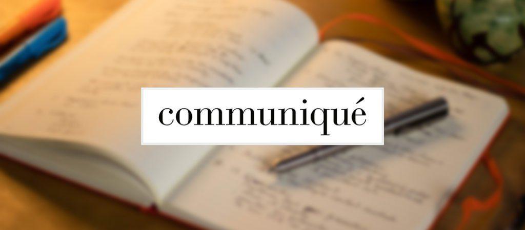 communiqué newsletter